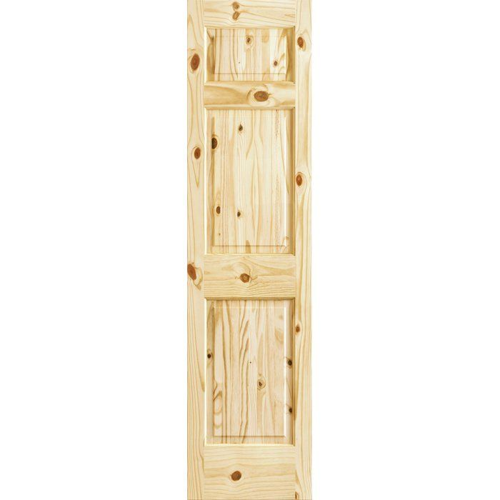 Paneled Solid Manufactured Wood Unfinished Standard Door