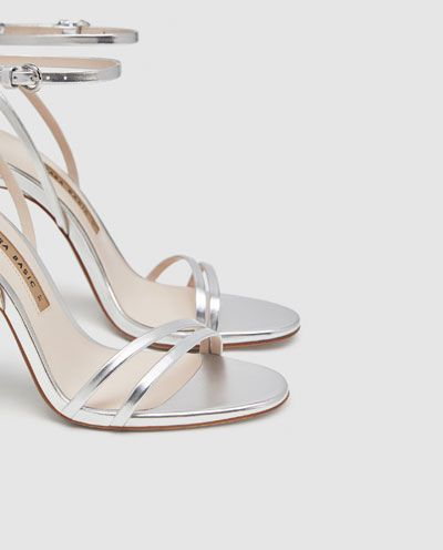 a7f01adc8d1 Image 6 of LAMINATED HIGH-HEEL STRAPPY SANDALS from Zara