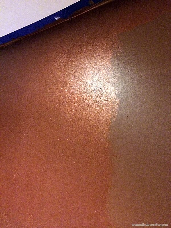 A Shimmery Metallic Copper Wall With Modern Masters