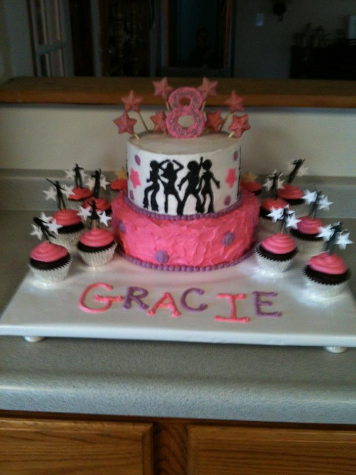 Gracie's Dance Themed Birthday Cake