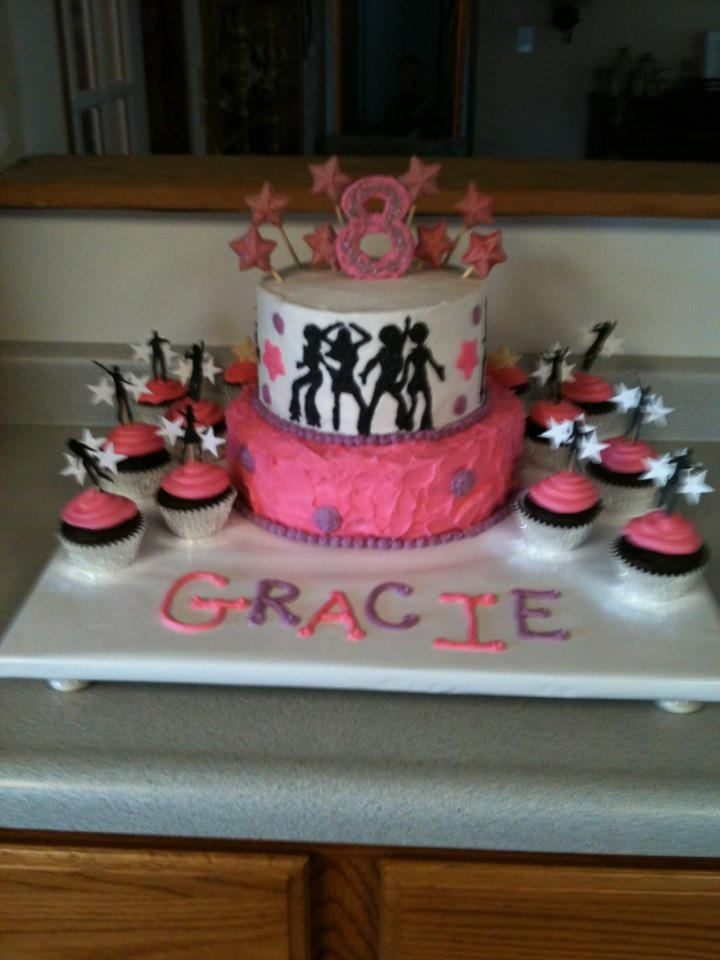 Dance Party Cake Images : Gracie s Dance Themed Birthday Cake Birthday ideas ...