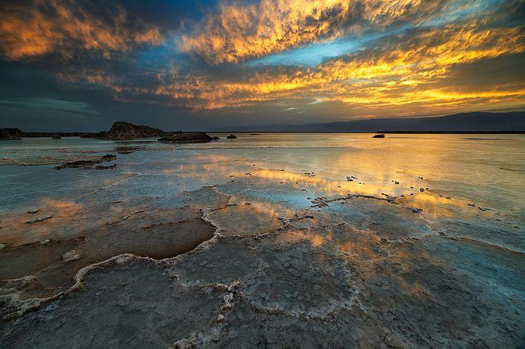 Sunrise of fire - Taken in The Dead Sea, Israel.