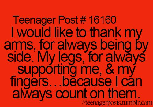 Teenager Posts - this would be a brilliant speech!