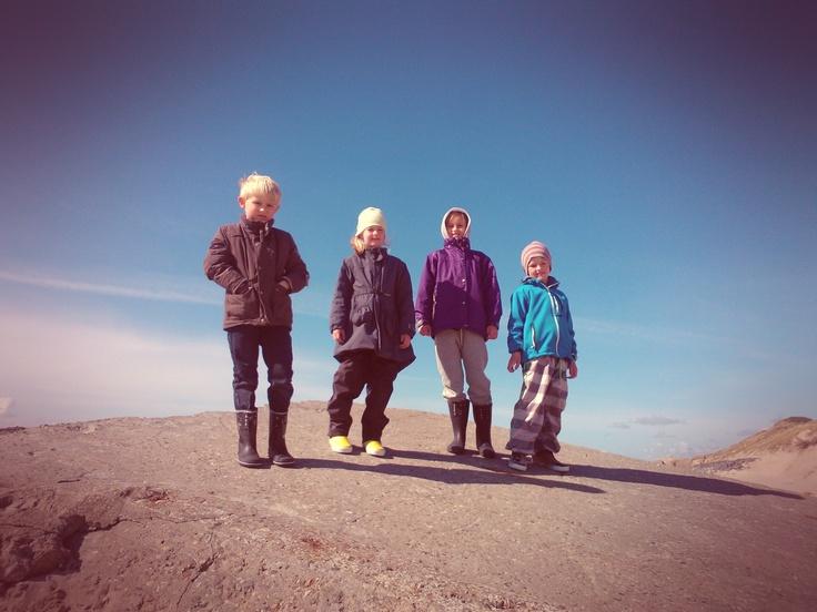 Jonas, Katrine, Emilie og Frederik. Vestkysten 2012