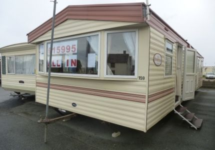 2005 double glazed central heated Abi Hempstead 8 berth family caravan for sale on a choice of parks in Towyn, Abergele. The caravan is in great condition throughout and is very open planned and spacious. It has a large wrap around kitchen and has tons of storage space. Perfect for larger families. £15,995