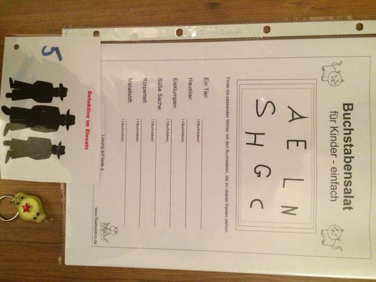 Rätsel Nr. 5 Entwirre den Buchstabensalat. Zur Belohnung gibts ne kleine Taschenlampe für den Durchblick