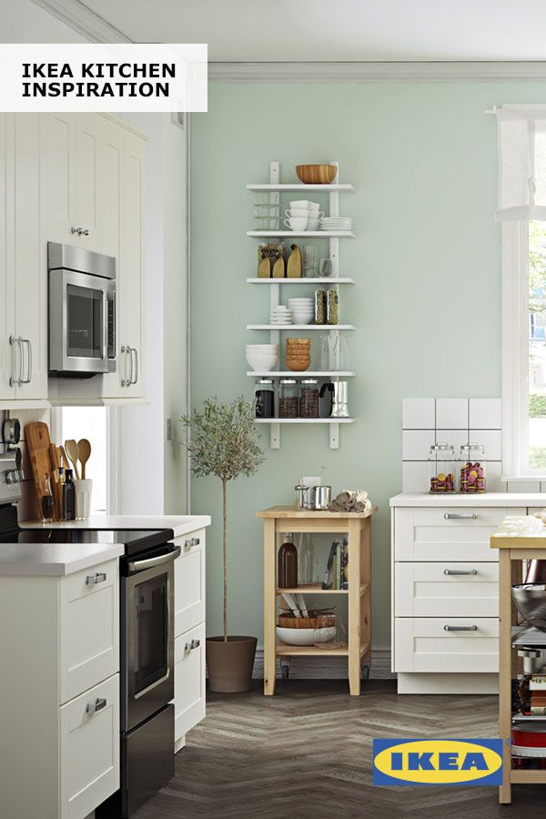 Open Shelves And IKEA Wall Organizers Give You Instant Access To The  Essential Things In Your Kitchen. Because When Youu0027re In Your Chef Zone,  You Donu0027t Want ...