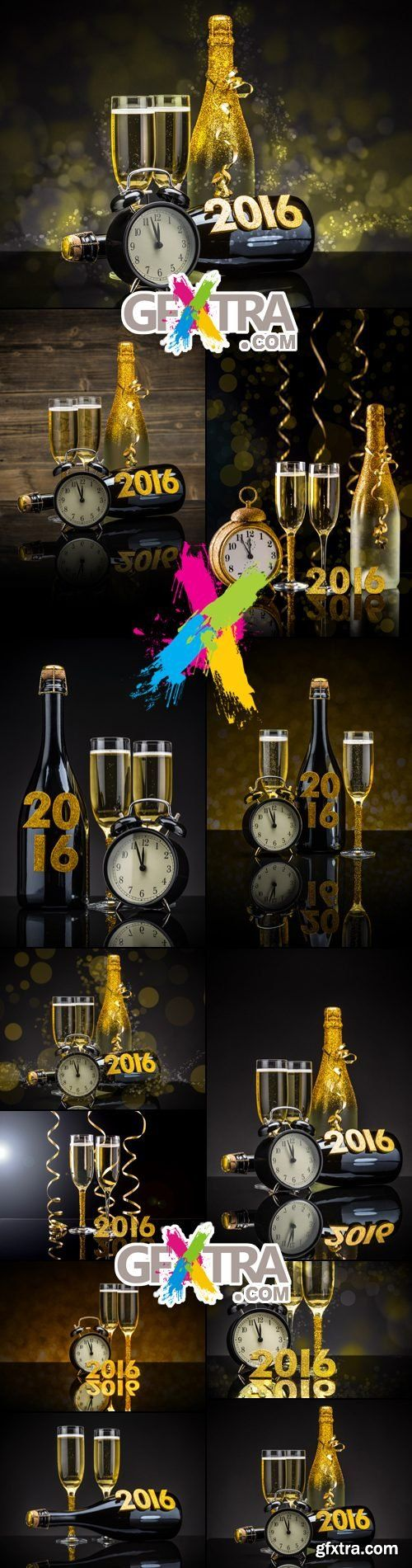 Stock Photo - New Year 2016 Composition