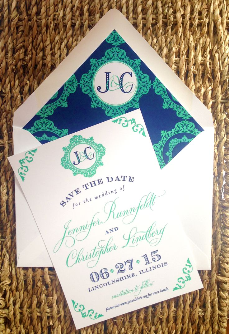 destination wedding save the dates and invitations%0A Monogrammed save the date  featuring the couple u    s custom  wedding  monogram  I Custom by