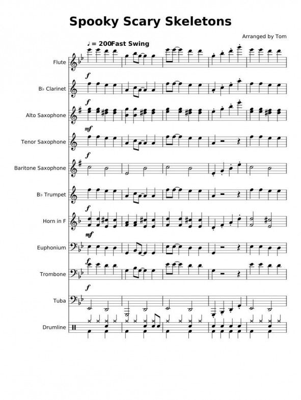 Print And Download In Pdf Or Midi Spooky Scary Skeletons