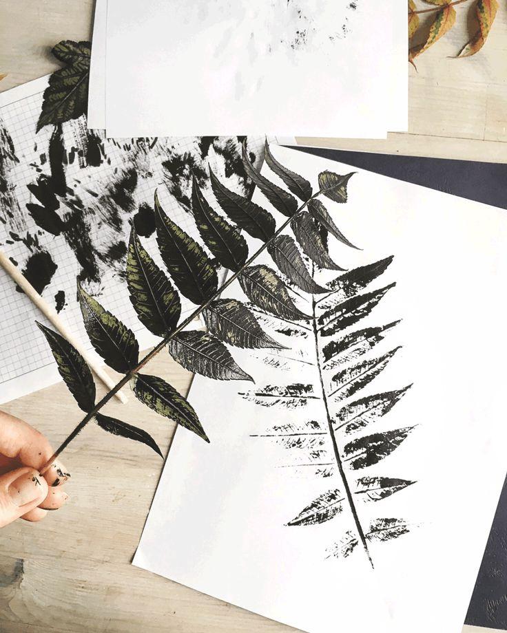 Grafika z liściem DIY + plakat do pobrania - Wild Rocks