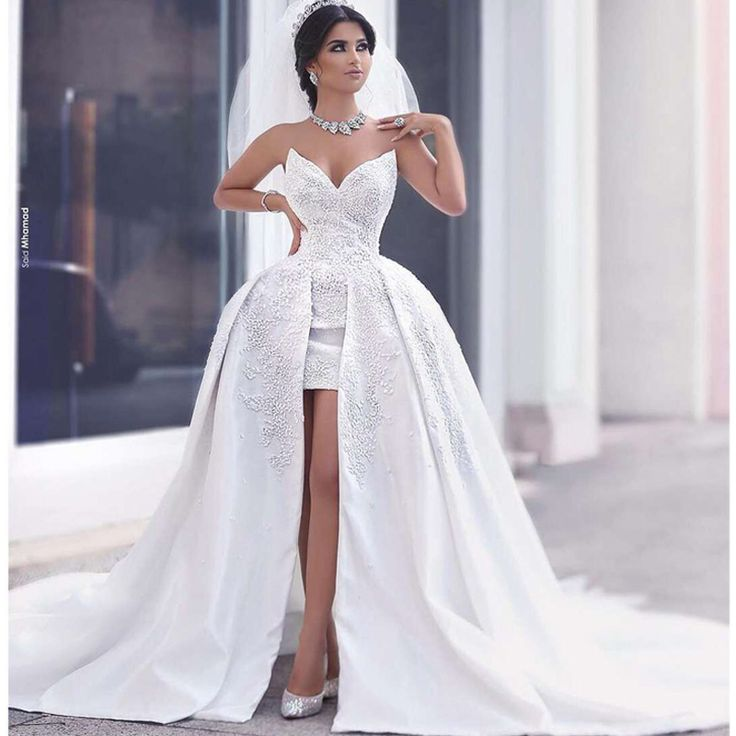 Fresh Aliexpress Buy Custom Made New Style V Neck Stain Embroidery Flower Beading High Low White High Quality New Wedding Gown vestido de noiva from