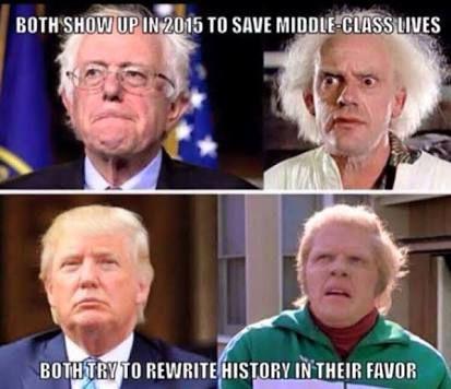 bernie trump back to the future meme - Google Search
