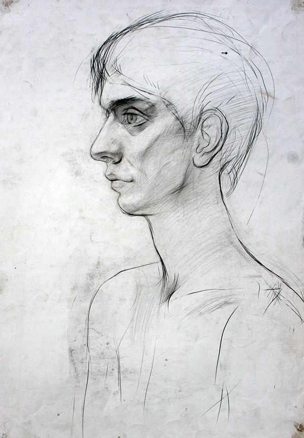 portrait sketches on behance