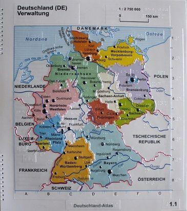 Gesamtkarte mit einzelnen Bundesländern