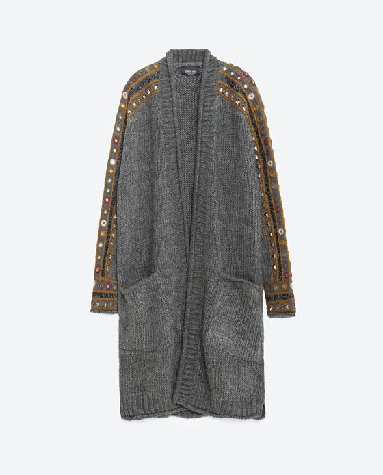 Image 8 of LONG CARDIGAN from Zara