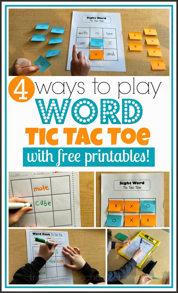 Word Tic-Tac-Toe: 4 Ways