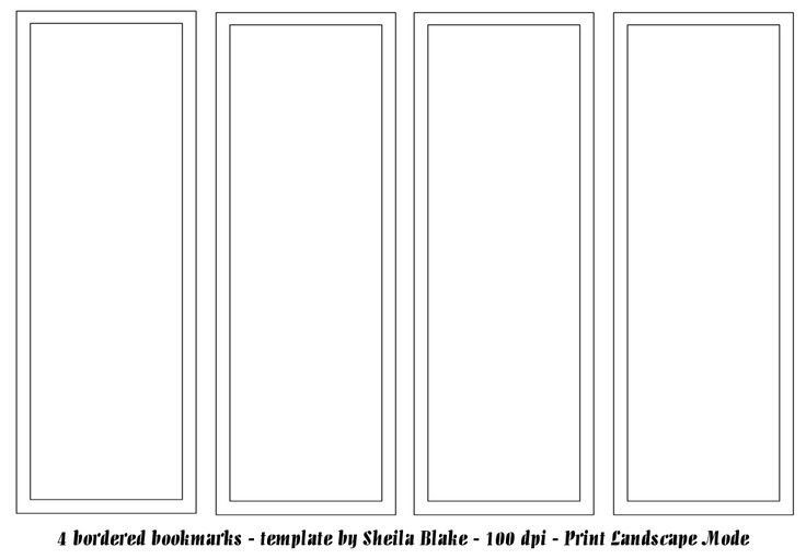 Free Printable Bookmark Templates Best 25 Bookmark Template Ideas