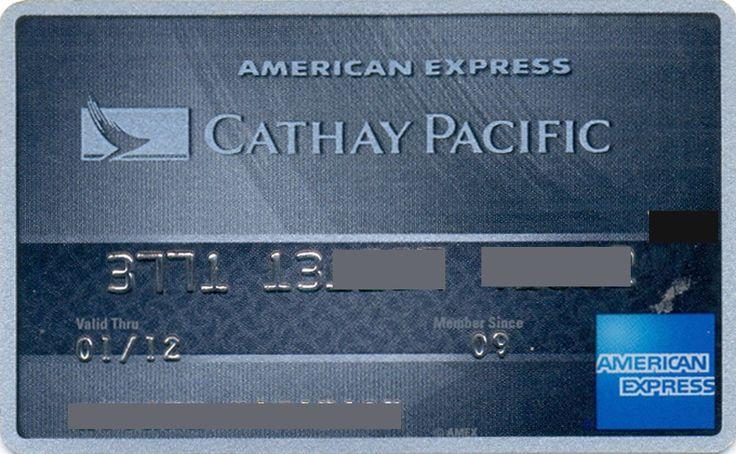 Cathay Pacific American Express HG (American Express, Hong Kong) Col:HG-AE-0014