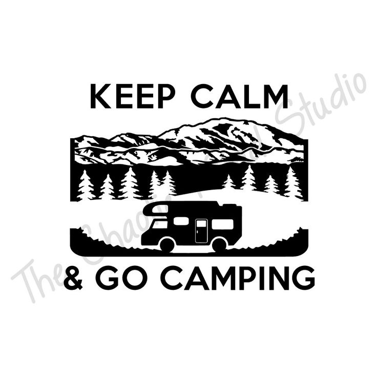 Keep calm camping with class c rv camper vinyl decal by thechaoticmind on etsy