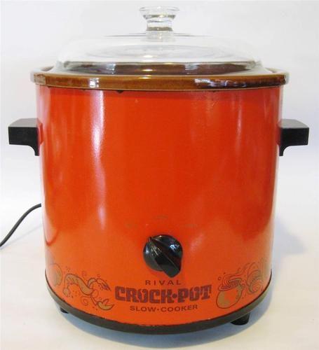 Vintage Rival Crock Pot Slow Cooker Model 3100/2 3.5 QT Retro Orange Works Great