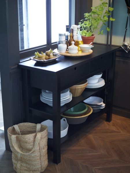 Dining storage that works! Sideboards create additional serving and storage space that is easy to reach.