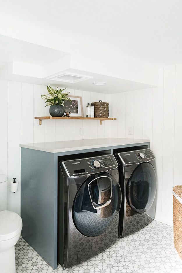 Cohesively Curated Laundry Room Design Laundry Room Decor Projects