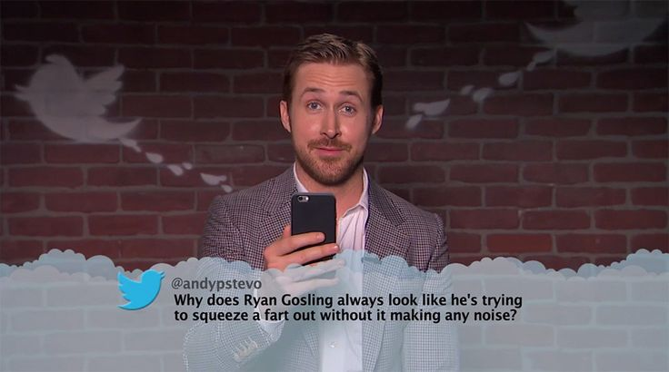 Ryan Gosling from Celebrity Mean Tweets From Jimmy Kimmel Live!