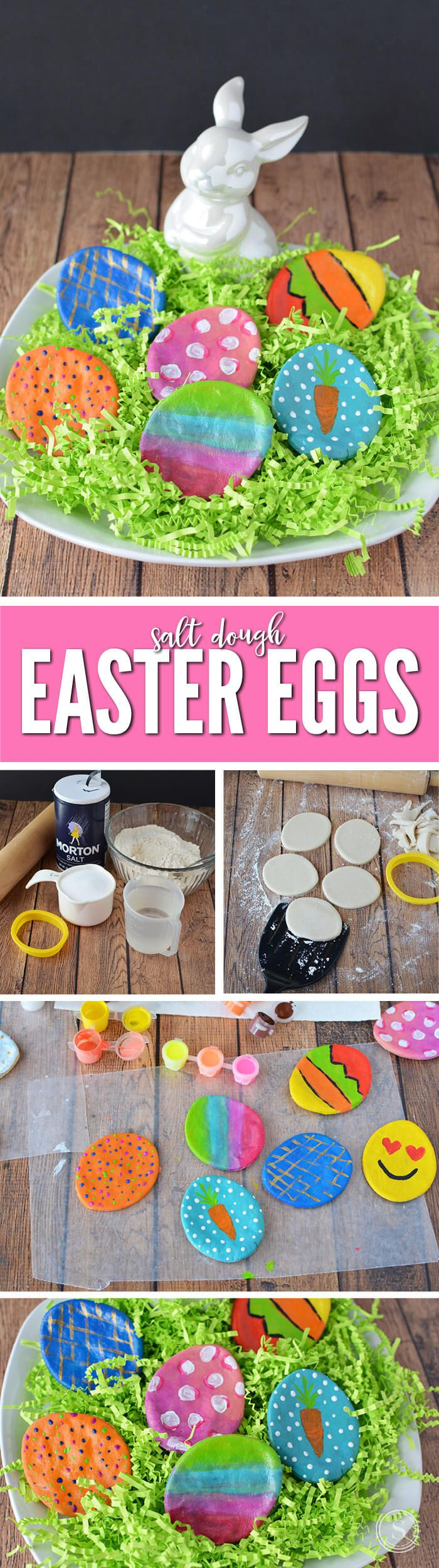 Salt Dough Easter Eggs for Kids! A fun way to decorate eggs for Easter! Easter Crafts and Activities that are kid friendly and super easy!