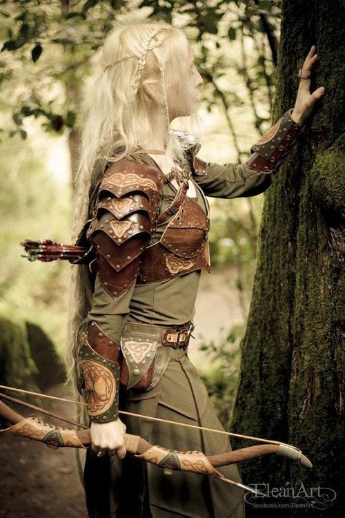beautiful elfish faerie fashion woodland warrior queen fashion outfit Mirkwood love the style of the armour bold yet delicate