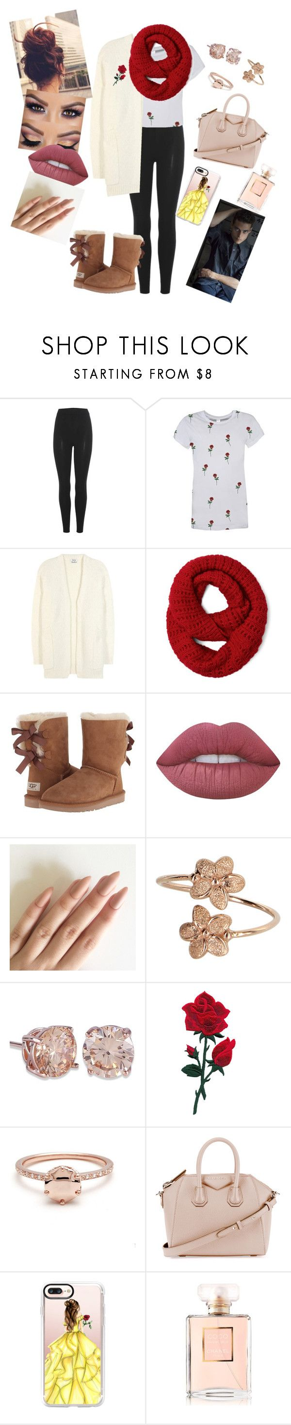 """""""Beauty and the beast w/ Rami"""" by annaconley on Polyvore featuring adidas Originals, Acne Studios, UGG Australia, M.O.T.D Cosmetics, Lime Crime, Givenchy, Casetify and Chanel"""