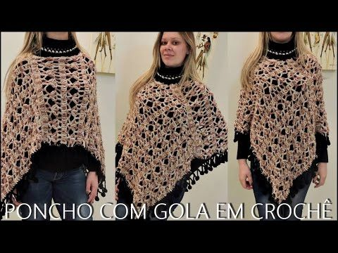 PONCHO GOLA EM CROCHÊ/ DIANE GONÇALVES. Link download: http://www.getlinkyoutube.com/watch?v=9XCO-5NTMys