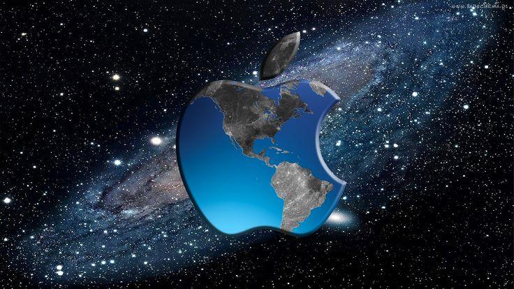 Logo, Apple, Kosmos, Grafika