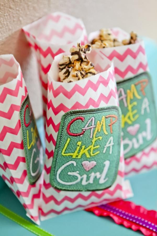 Such a CUTE glamping girly camping party with lots of ideas! Via Kara's Party Ideas KarasPartyIdeas.com #camping #girl #party #ideas #cake #idea #favors