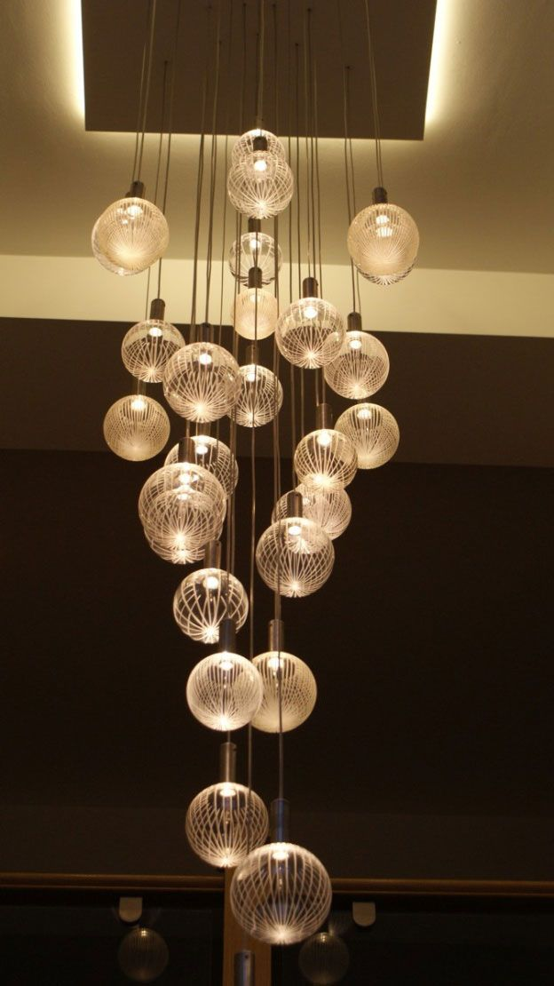 Contemporary Chandelier Company, Elements Glass Chandelier, Warm White