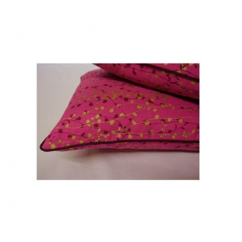 Pair of Magenta Beads Cushions (43x43cm)