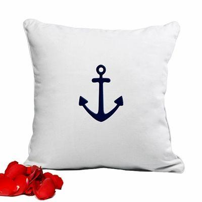 Anchor Design Throw Pillow