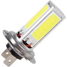 Koop 20 W H7 Super High Power COB LED Wit Auto auto Dagrijverlichting DRL Auto Rijden Gloeilamp Fog lampen(China)