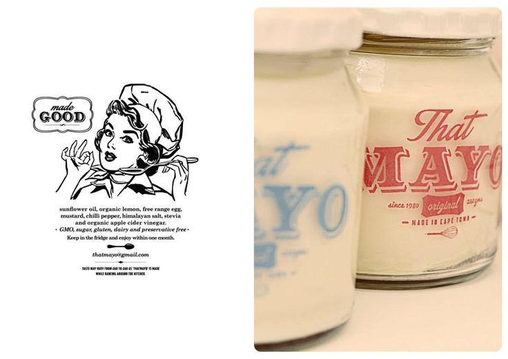 That Mayo Branding and Design #canvas #design #logo #packaging #branding #typography #vintage #mayonnaise