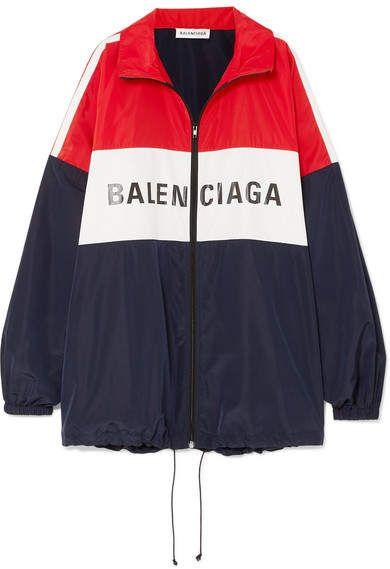 b3c32c8617f Balenciaga Oversized Color-block Printed Shell Jacket - Red ...