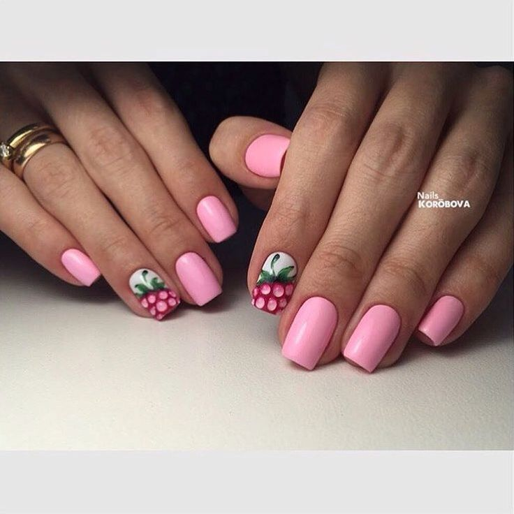 Beautiful pink nails, Berry nails, Manicure by summer dress, Medium nails, Pale…