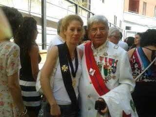 BARONESSA MARY INSIEME AL SUO AMICO NOBILE,IL CONTE GIOVANNI BOSIO.