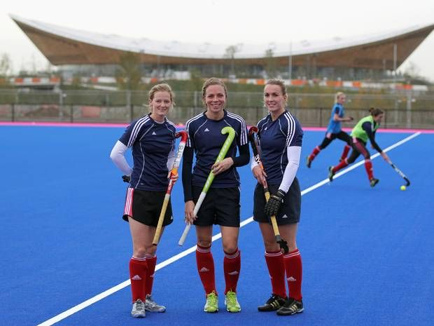 atie Walsh (C) and Helen Richardson (L): The Team GB Olympic hockey players got married in September this year, with Walsh captaining the hockey side to a Bronze medal at London 2012 – the nation's first Olympic medal in the discipline in 20 years – with Richardson also featuring in the third-place play-off team. The pair were together for 5 years before they tied the knot, and have swiftly turned their heads towards Rio 2016 with ambitions of securing Gold.
