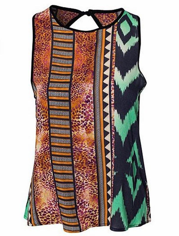 The Hank Tank | 27 Boutique  Features a rad aztec print, with a rounded open back. Great with a bandeau or bralette underneath.