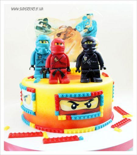 """Торт """"Лего Нінзяго (LEGO Ninjago)"""""""