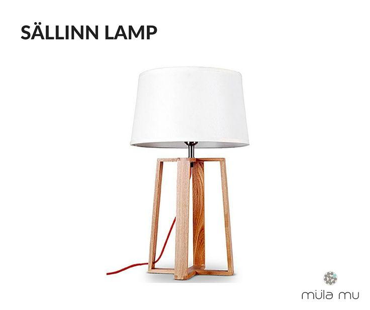The SÄLLINN LAMP is a uniquely designed table lamp that focuses on wooden frames that hold up the upper portion of the lamp. This offers the entire piece unparalleled stability and support.  Dimension: 280 x 280 x 450 mm  *Price does not include light bulbs. http://www.mulamu.com/product/sallinn-lamp/