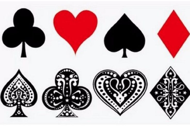 Harley Quinn Tattoo, Temporary Tattoo Halloween, Small, Hearts, Aces, Spades, Diamonds