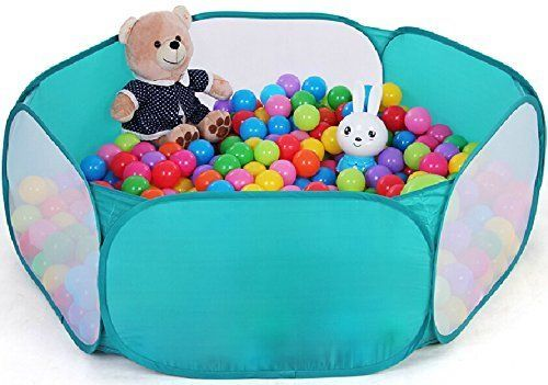 ZeleSouris Kids Pop Up Ball Pit Play Baby Ball Pool Garden Play Tent House Sports Toy Kids Toddlers Age 1/2/3 Toys -Balls Not Included!(Blue)