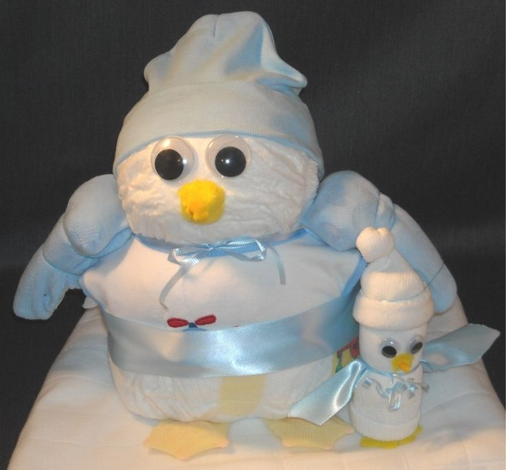 Penguin Baby Shower Cakes | BlueSet.JPG