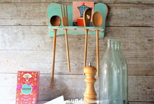 Vintage Cupboards –  Vintage shabby French kitchen rack shelf – a unique product by elisabethUNDjohannes on DaWanda